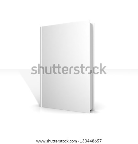 White blank books on a white background. 3d illustration and business concept - stock photo