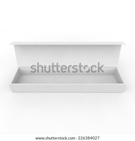 White blank box for jewelry, gifts and other items - stock photo