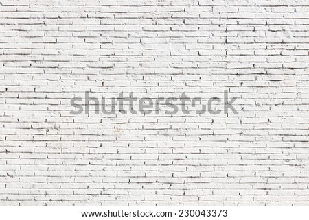 White blank brick wall surface - stock photo