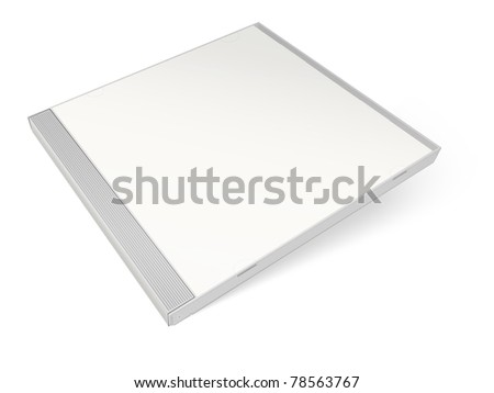 White blank cd case - put your own design on it! - stock photo