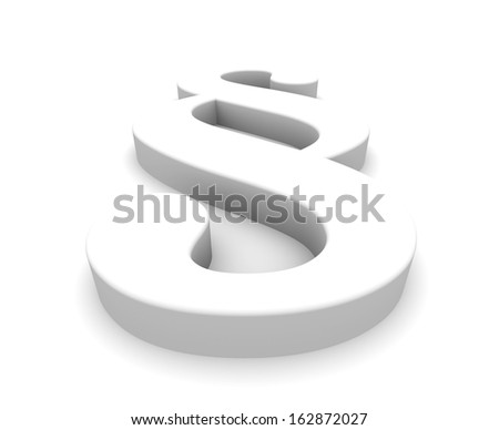 white blank 3d paragraph - stock photo