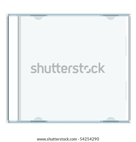 White blank music cd case with room to write your own text - stock photo