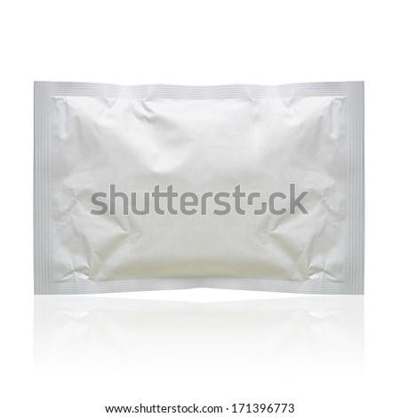 White blank pack isolated on white background  - stock photo