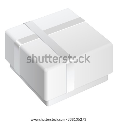 White blank Package Box. For gift. - stock photo