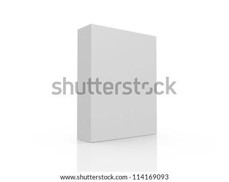 White, blank product box template, isolated on white background. - stock photo