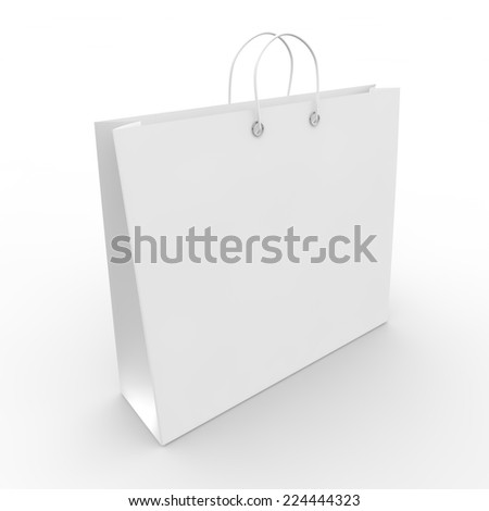 White blank sample bags for goods and products - stock photo