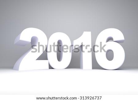 White blank 2016 text background - stock photo