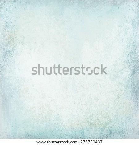 white blue grunge wall - stock photo