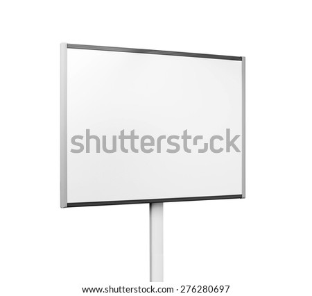White board isolated - stock photo