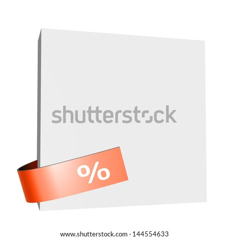 White board with a red percentage sign - stock photo