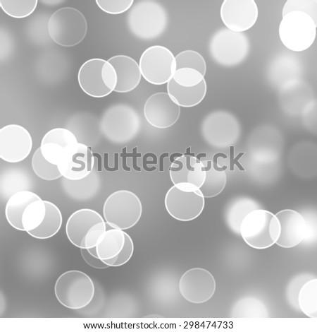 white bokeh background - stock photo