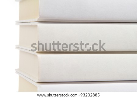 White Books with White Background - stock photo