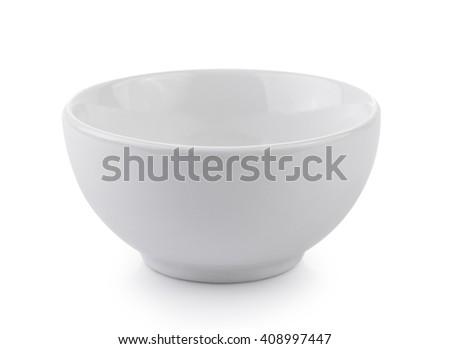 white bowl - stock photo