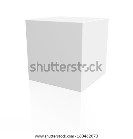 White box. 3d render isolated on white background - stock photo