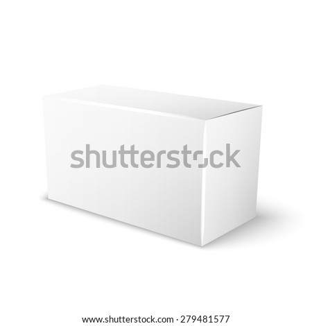white box for your special design, isolated on a white background - stock photo