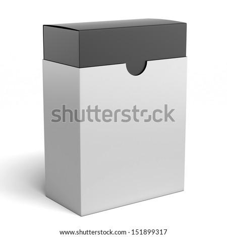 white box with black inside - stock photo