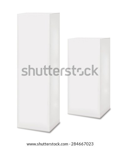 white boxes isolated - stock photo
