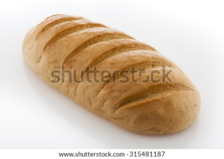 white Bread - stock photo