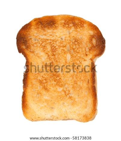 White bread toast. Isolated on white background - stock photo
