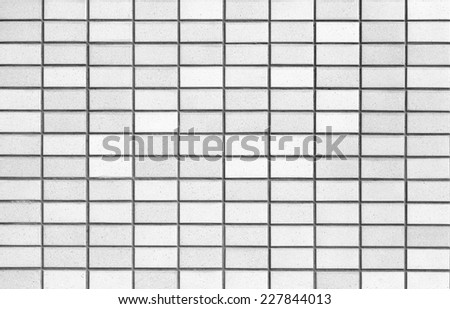 White brick modern wall background and texture - stock photo