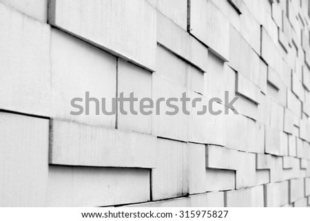 white brick wall - stock photo