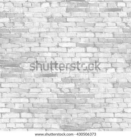 white brick wall - abstract seamless texture - stock photo