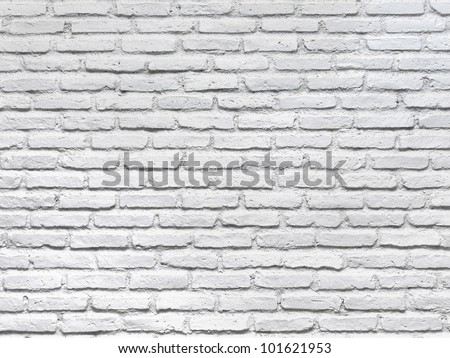 White brick wall for a background - stock photo