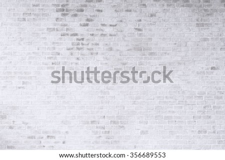 White brick wall for texture or background - stock photo