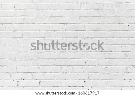 White brick wall. Seamless photo background texture - stock photo