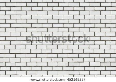 White brick wall texture, seamless texture - stock photo