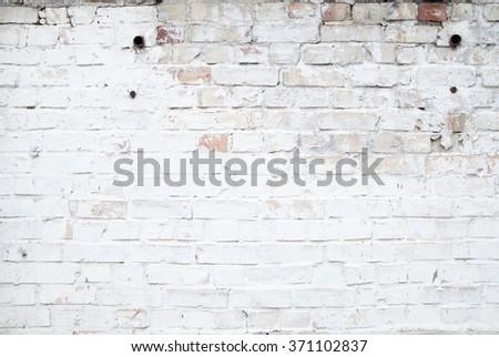 white bricks, urban background - stock photo