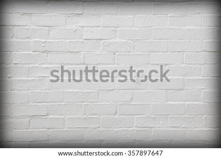 white brickwall. - stock photo