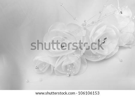 white brides jewelry-  detail - stock photo