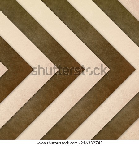 white brown background chevron striped background, vintage texture and design, elegant brown and white backdrop - stock photo