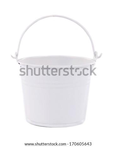 White bucket close up. - stock photo