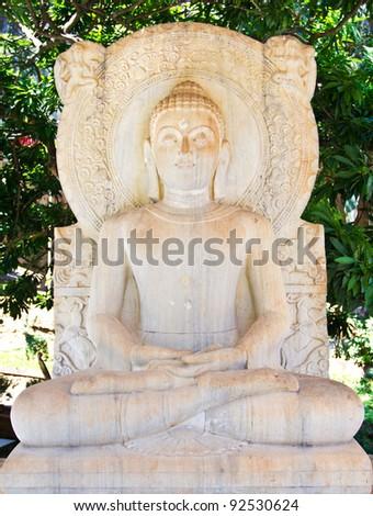 White Buddha - stock photo