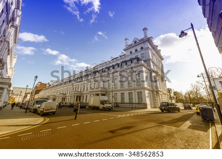 White building in London. - stock photo