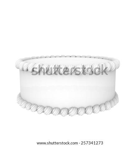White cake - stock photo
