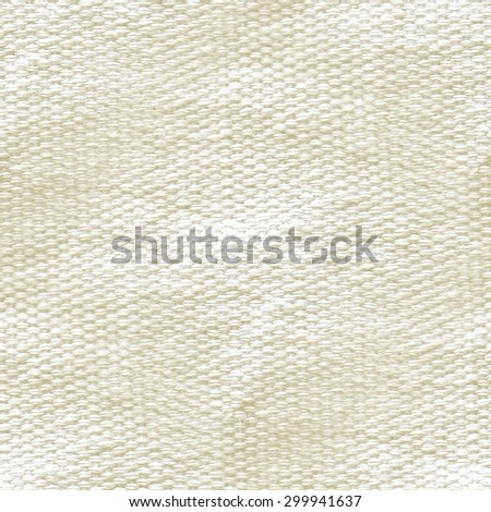 white canvas texture, seamless pattern, rough surface  - stock photo