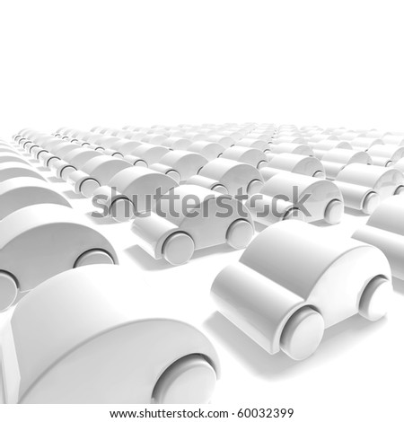 white car parking - stock photo