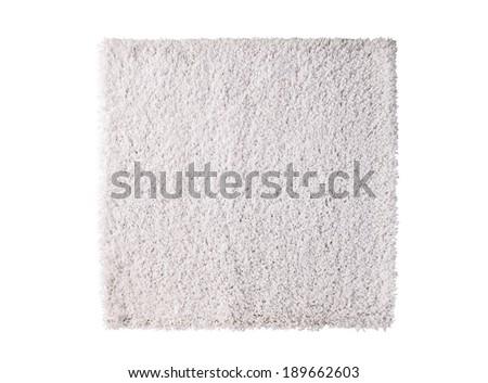white carpet isolated on white background - stock photo