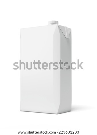 White Carton Package  - stock photo