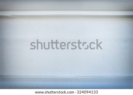 White cement wall with vignette  - stock photo
