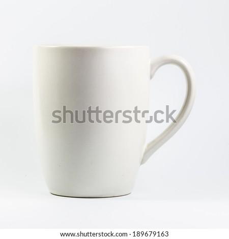 White ceramic glass - stock photo