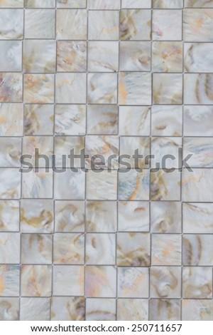 White Ceramic rustic tiled floor background - stock photo