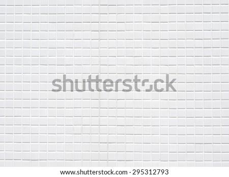 White ceramic tiles wall,background - stock photo