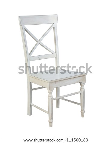 white chair isolated on white background - stock photo