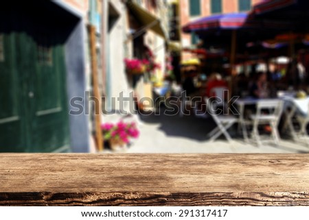 white chairs wooden old desk and doors  - stock photo