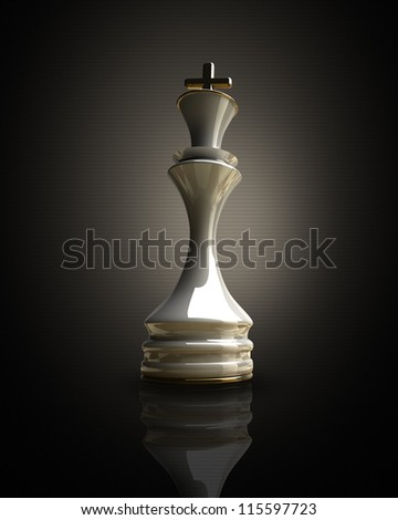 White chess king background 3d illustration. high resolution - stock photo