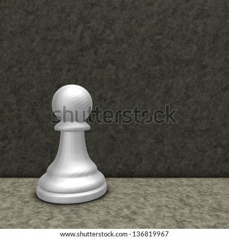 white chess pawn - 3d illustration - stock photo